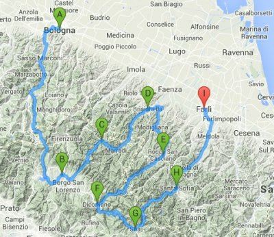 Motoitinerari appennino tosco romagnolo itinerari - Tosco romagnolo bagno di romagna ...