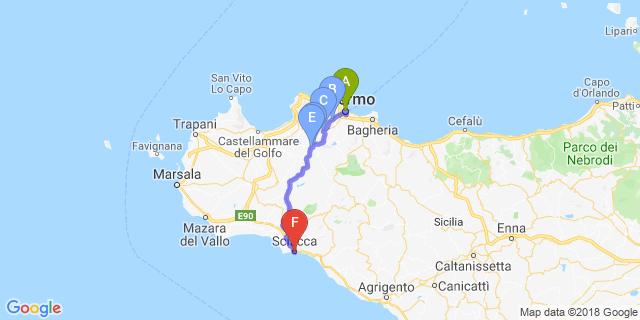 Cartina Sicilia Mondello.Motoitinerari Palermo Sciacca Itinerari Bikershotel