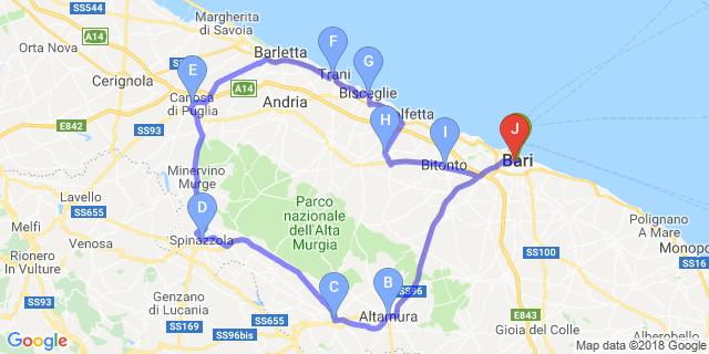 Cartina Puglia Costa Adriatica.Itinerari Moto Puglia Motoitinerari It Puglia