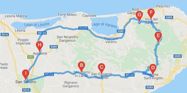 Cartina Itinerari Puglia.Itinerari Moto Puglia Motoitinerari It Puglia