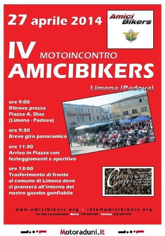 27 apr IV° Motoincontro Amicibikers Limena (PD)  Raduno07042014130402