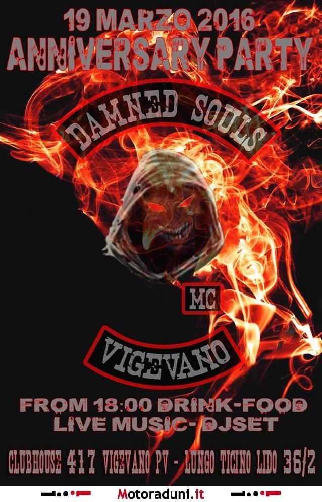 ANNIVERSARY PARTY DAMNED SOUL MC VIGEVANO 2016 - motoparty ...