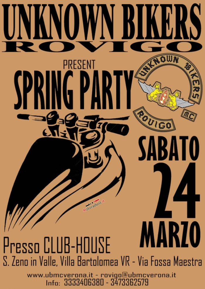 24 marzo- SPRING PARTY  San Zeno in Valle (VR) Raduno1503201285659
