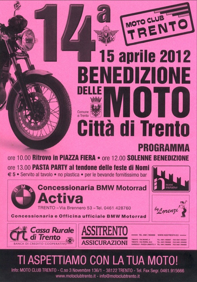 15 aprile - Motobenedizione città di Trento Raduno21032012173349