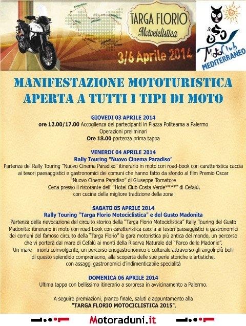 Targa Florio Motociclistica 2014 Motogiro Palermo Pa Dal 0304