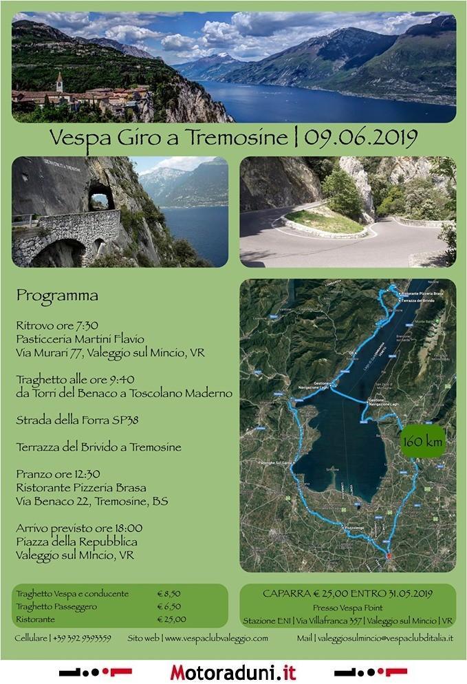 Vespa Giro A Tremosine Motogiro Campione Bs Dal 09 06
