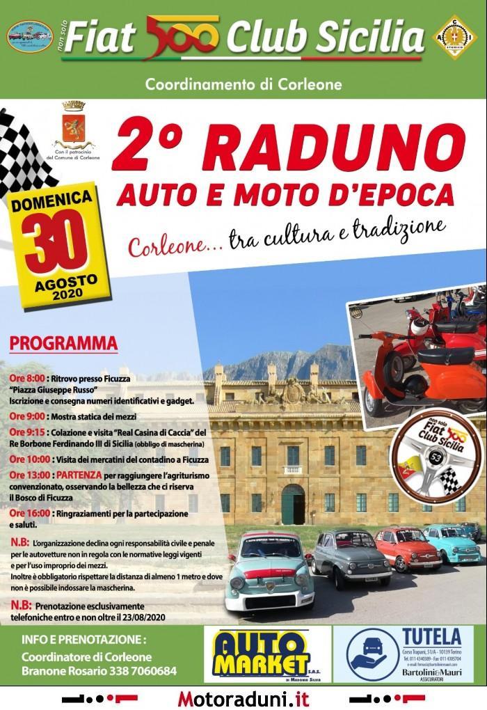 2° RADUNO AUTO E MOTO D'EPOCA 2020   motoraduno   Corleone PA