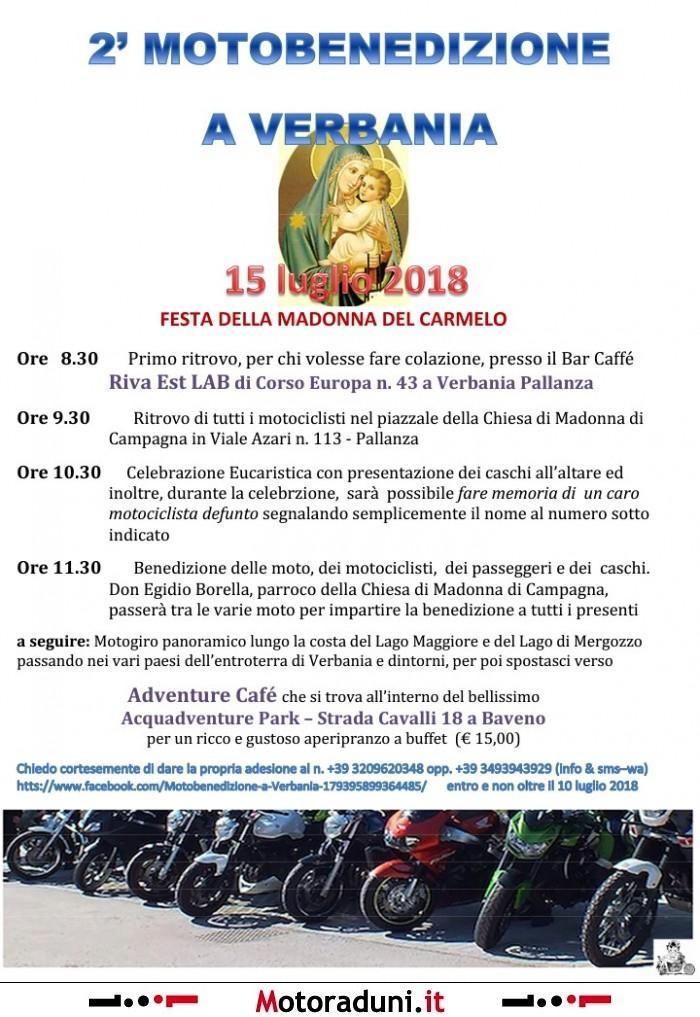 Verbania Lago Maggiore Karte.2 Motobenedizione A Verbania 2018 Motoraduno Verbania Vb